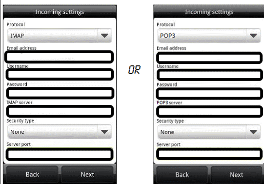 BT Mail Settings in Android2