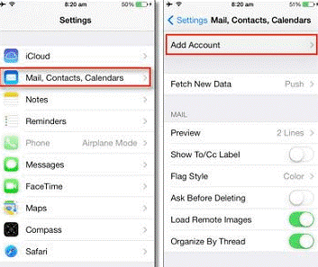 BT Mail Settings in iPhone2